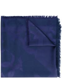 Écharpe bleu marine Salvatore Ferragamo