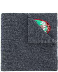 Écharpe brodée gris foncé DSQUARED2