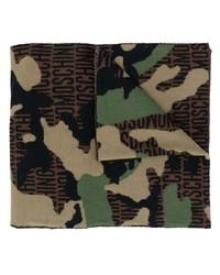 Écharpe camouflage marron Moschino