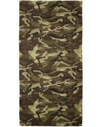 Écharpe camouflage olive Saint Laurent