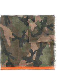 Écharpe camouflage olive Valentino