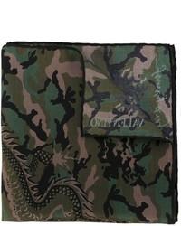 Écharpe camouflage olive Valentino Garavani
