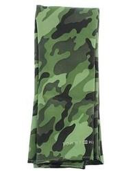 Écharpe camouflage verte