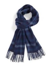 Écharpe écossais bleu marine