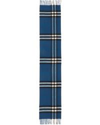 Écharpe écossais bleu