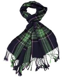 Écharpe écossaise bleu marine et vert Rag and Bone