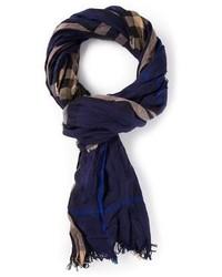 Écharpe écossaise bleu marine Burberry