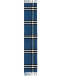 Écharpe écossaise bleue