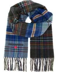 Écharpe écossaise bleue DSQUARED2