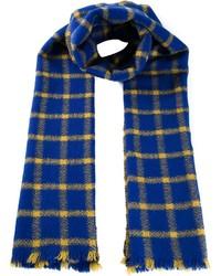 Écharpe écossaise bleue Marni