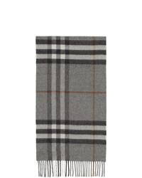 Écharpe écossaise grise Burberry