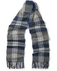 Écharpe écossaise grise