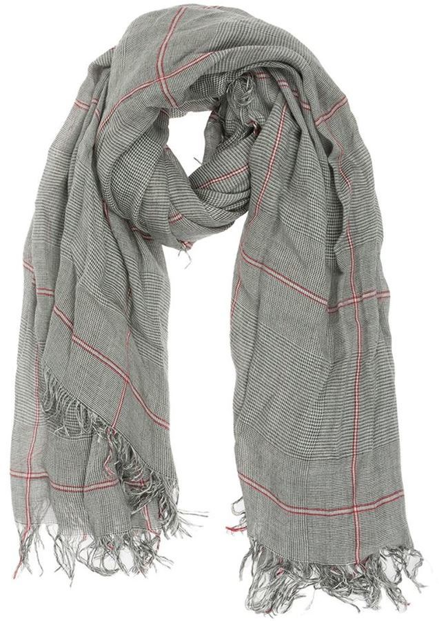 Écharpe écossaise grise Faliero Sarti  Où acheter et comment porter 67f269bcbf1
