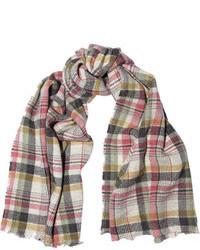 Écharpe écossaise grise Isabel Marant