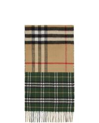 Écharpe écossaise multicolore Burberry