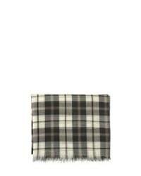 Écharpe écossaise noire et blanche