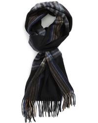 Écharpe écossaise noire