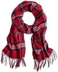 Écharpe écossaise rouge