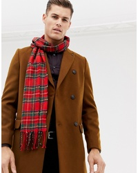 Écharpe écossaise rouge Burton Menswear