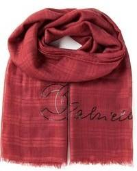 Écharpe écossaise rouge Chanel