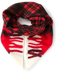 Écharpe écossaise rouge Golden Goose Deluxe Brand