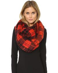 Écharpe écossaise rouge Kate Spade