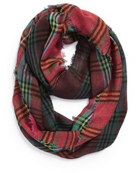 Écharpe écossaise vert et rouge