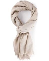 Écharpe en coton beige