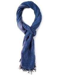 Écharpe en coton bleu marine