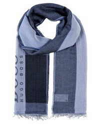 Écharpe en coton bleu marine Hugo Boss