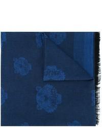 Écharpe en coton bleu marine Kenzo