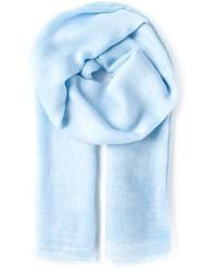 Écharpe en coton bleue claire Faliero Sarti