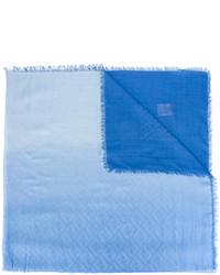 Écharpe en coton bleue claire Fendi