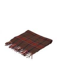 Écharpe en coton écossaise bordeaux