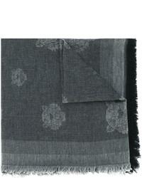 Écharpe en coton gris foncé Kenzo