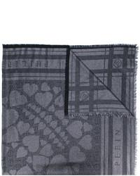 Écharpe en coton imprimée noire Philipp Plein