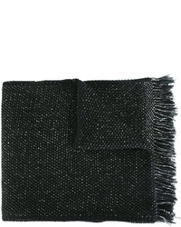 Écharpe en coton noire Stephan Schneider