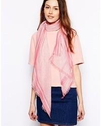 Écharpe en coton rose Moschino Cheap & Chic