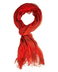 Écharpe en coton rouge Esprit