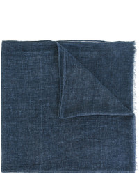 Écharpe en coton tressée bleu marine Diesel