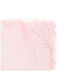 Écharpe en dentelle rose Valentino