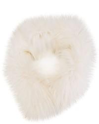 Écharpe en fourrure blanche