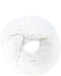 Écharpe en fourrure blanche Yves Salomon