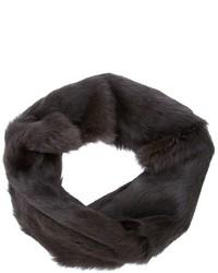 Écharpe en fourrure brune foncée