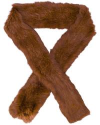 Écharpe en fourrure brune Yves Salomon