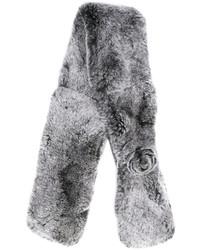 Écharpe en fourrure grise N.Peal