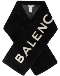 Écharpe en fourrure noire Balenciaga