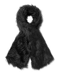 Écharpe en fourrure noire Emma Brewin