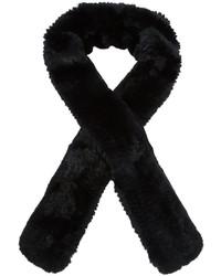 Écharpe en fourrure noire Yves Salomon