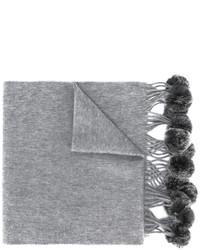 Écharpe en fourrure tressée grise N.Peal
